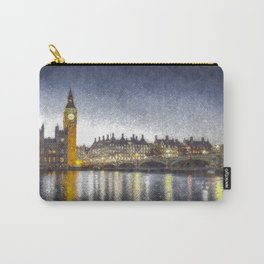 Westminster At Night Snow Carry-All Pouch