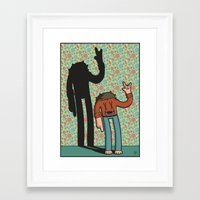 70s Framed Art Prints featuring 70s Dude by Design by Jamie Patrick