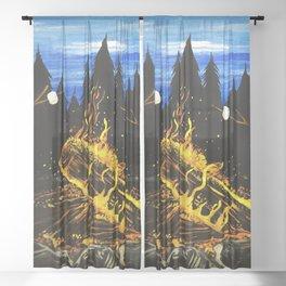 Camp Fire Sheer Curtain