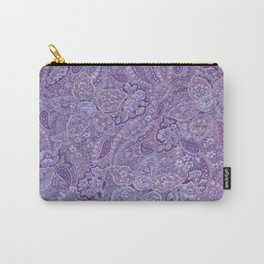 Purple Paisley Carry-All Pouch