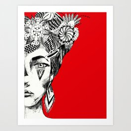 """""""All the dreams she kept coiled beneath her bones""""- C. Poindexter Art Print"""