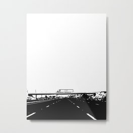 Semi-Truck Metal Print