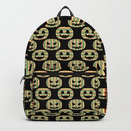Pumpkin Face Happy Halloween Retro Style Pattern Backpack