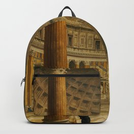 Giovanni Paolo Panini The Interior Of The Pantheon Rome Backpack