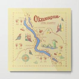 Okanagan map Metal Print