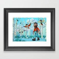 Tin Timber & The Blue Magic Forest Framed Art Print