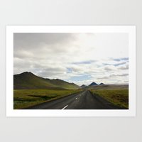 Lonely Road, Northeast Iceland II Art Print