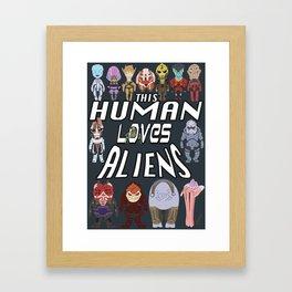 Aliens LOVE Framed Art Print