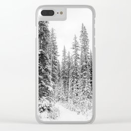 winter forrest Clear iPhone Case