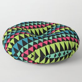 Neon Southwestern Pattern Floor Pillow