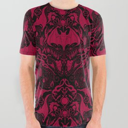 Bats and Beasts - Blood Red All Over Graphic Tee