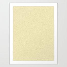 Blond Yellow Pixel Dust Art Print