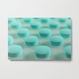 Blue Pills Pattern Metal Print