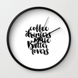 Kitchen Decor Printable Quotes Inspirational Art Print But First Coffee Bedroom Art Print Bedroom Wall Clock