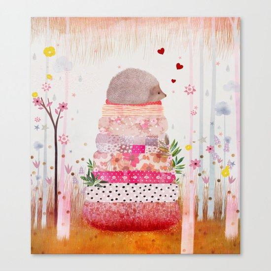 Milla the Hedgehog Canvas Print