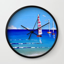 Sail Away by Jolene Ejmont Wall Clock