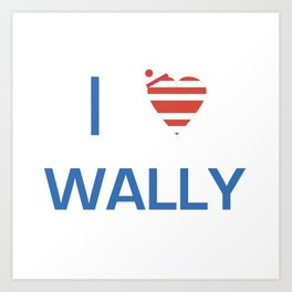 I Heart Wally Art Print
