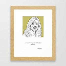The Rock Scientist Framed Art Print