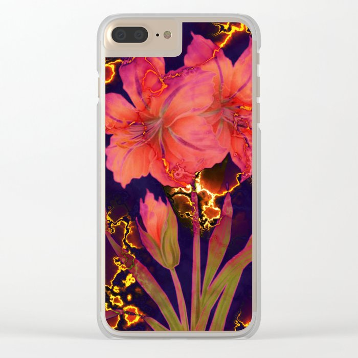 luminous amaryllis Clear iPhone Case