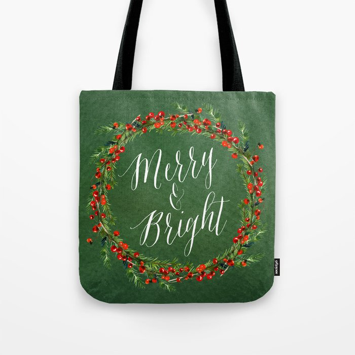 Merry Bright Green Tote Bag