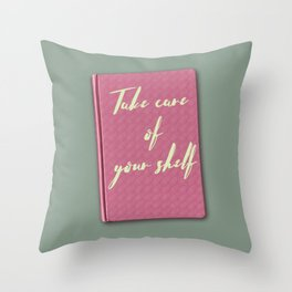 Thinking of you & your books again Throw Pillow