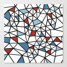 Segment Red and Blue Canvas Print