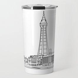 Blackpool Line Art Landscape Travel Mug