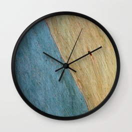 Eucalypus Turquoise Wood Wall Clock