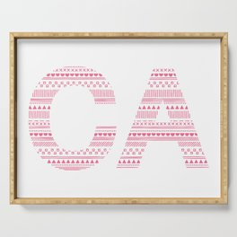 Typographic CA - Magenta Serving Tray