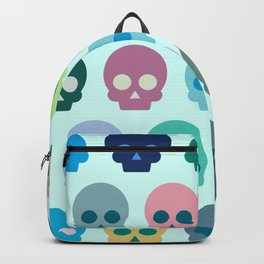 Colorful Skull Cute Pattern Backpack
