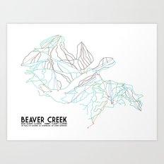 Beaver Creek, CO - Minimalist Trail Map Art Print