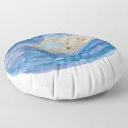 Bathing Woman Floor Pillow