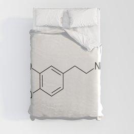 Dopamine Molecule Duvet Cover