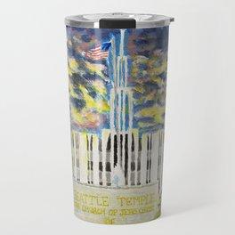 Seattle Washington LDS Temple Travel Mug