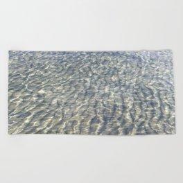 When Light Meets Water Beach Towel