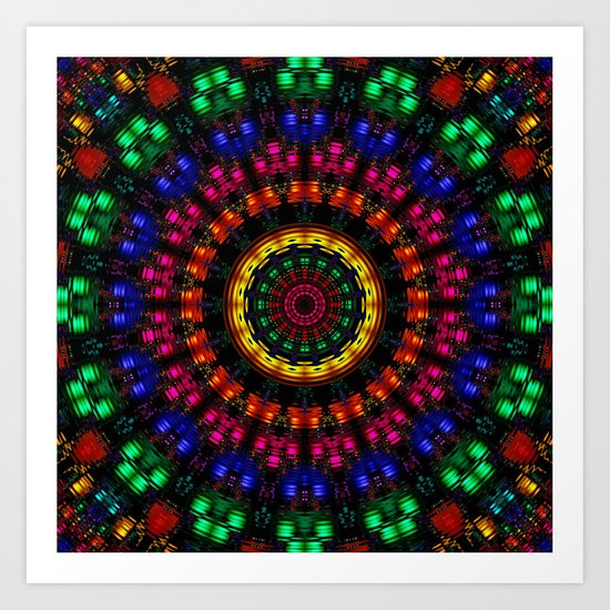 Rippling Colors Art Print
