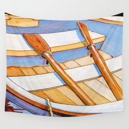 Row Boat Too Wall Tapestry