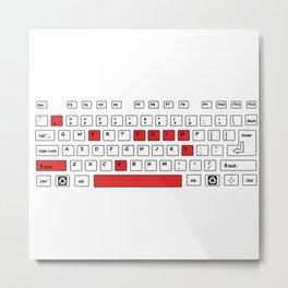 I Love You - Geek Love Keyboard Metal Print