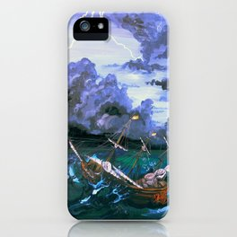 Ship in Storm iPhone Case