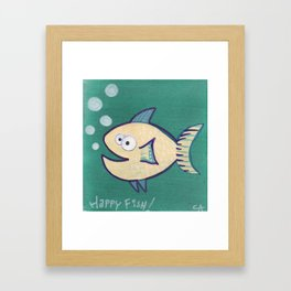 HAPPY HAPPY FISH! Framed Art Print