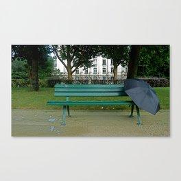 Paris Park Bench Canvas Print