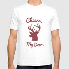 Cheers, My Deer. White Mens Fitted Tee MEDIUM