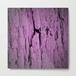 Old Bark - Violet Metal Print