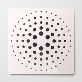 Mid-Century Modern Art - Bubblegum Spiral Dots Metal Print