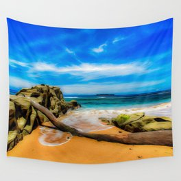 Singular Tropical Beach Wall Tapestry