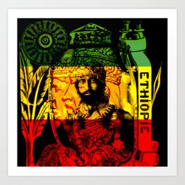 Haile Selassie Lion of Judah Art Print