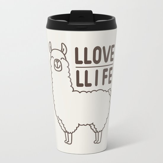 Love Life Metal Travel Mug