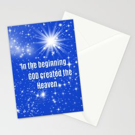 In The Beginning God 3 Stationery Cards
