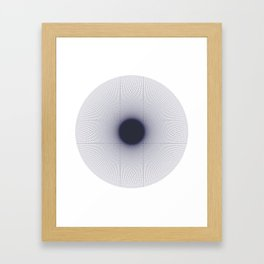 Stehen Hawking: Event Horizon Framed Art Print