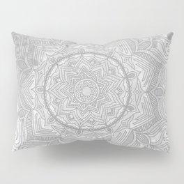 gray splash mandala swirl boho Pillow Sham